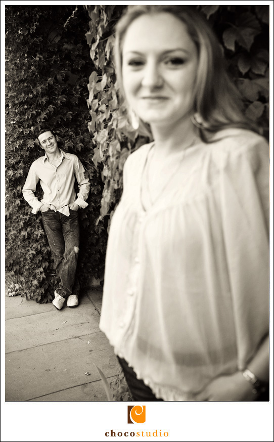 Santana Row Engagement Session