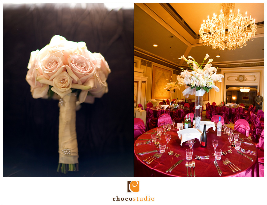 Sir Francis Drake Hotel wedding reception details