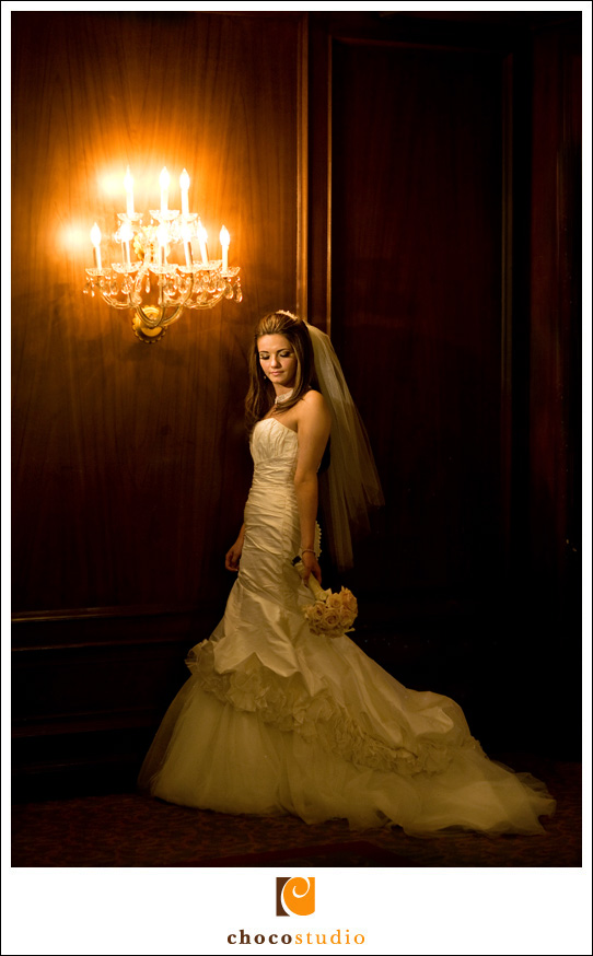 Bride portrait at Sir Francis Drake Hotel