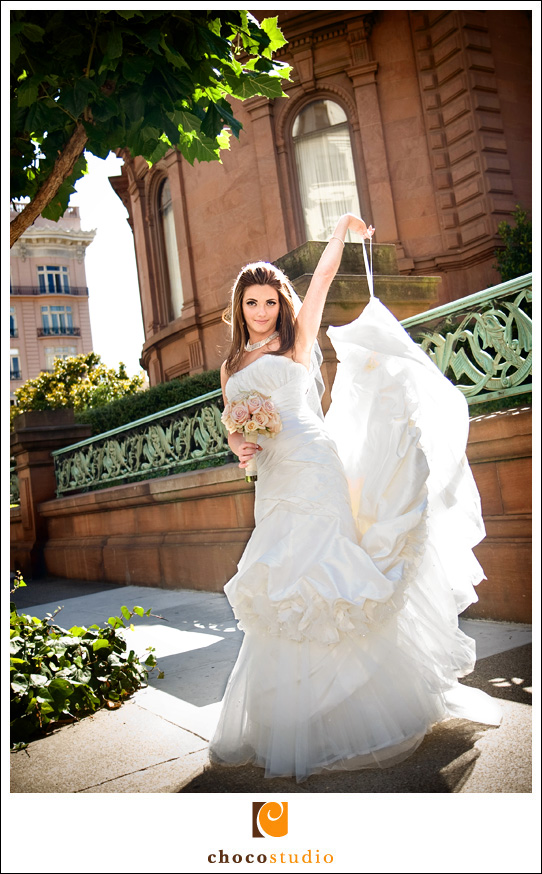 Bride portrait on Nob Hill