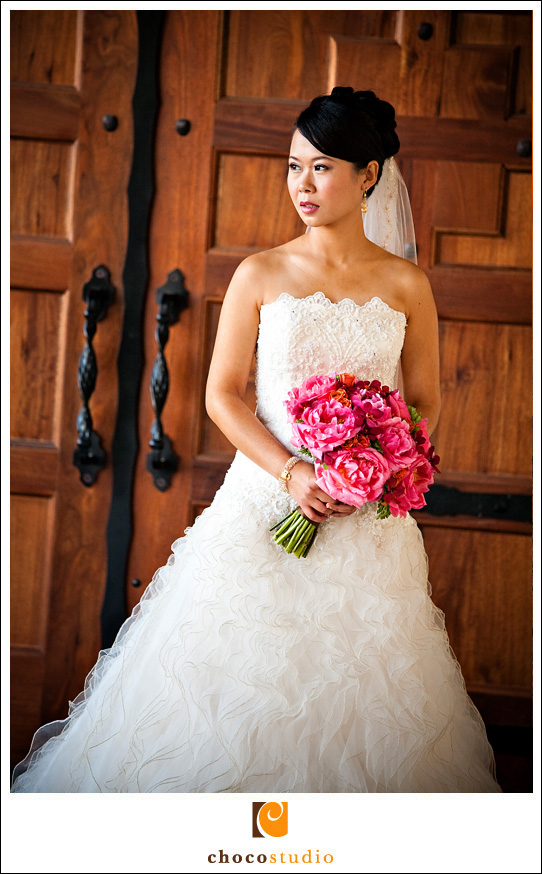 Bridal portrait with Casa Real door